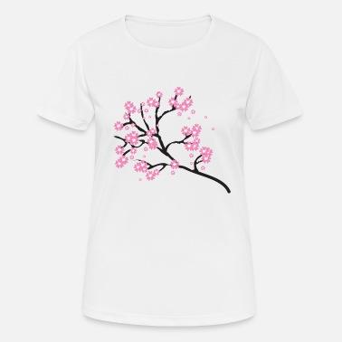 LigneSpreadshirt T À Fleurs Commander Shirts Cerisier En O8n0vNwm