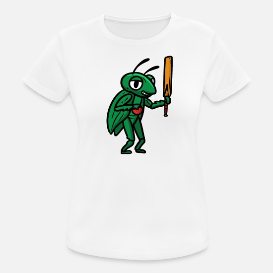 Cricket T-Shirts - Cricket Gift Bowler Sport Cricket Punch Ball - Women's Sport T-Shirt white