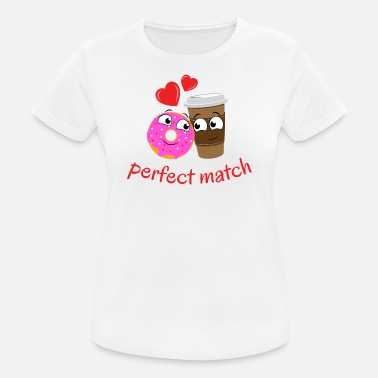 Matching Couples perfect couple, in love, perfect match - Women's Breathable T-Shirt
