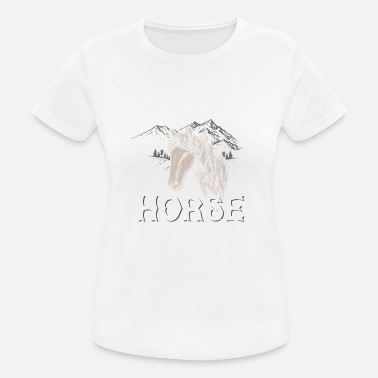 Horseman Horse riding equestrian gift · looks cute - Women's Sport T-Shirt
