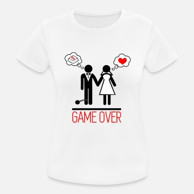 Over Game over - Couples - Bachelor - Women's Sport T-Shirt