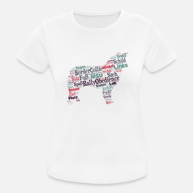 Obedience Rally Obedience Border Collie Wordcloud - Frauen Sport T-Shirt