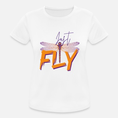 Just Fly Just Fly - DRAGONFLY - Orange lilla - Sports T-shirt dame