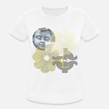 Yellow Face Angel face with yellow flowers - Women's Breathable T-Shirt