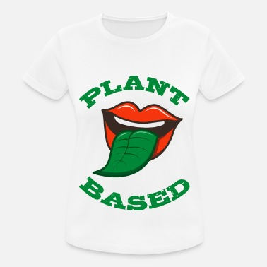 Plant Plant Based Green Tongue Vegetarian Vegan Gift - Women's Sport T-Shirt