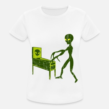 Pinball PINBALL WITH ALIEN UFO Sci-Fi gifts outer space - Women's Sport T-Shirt
