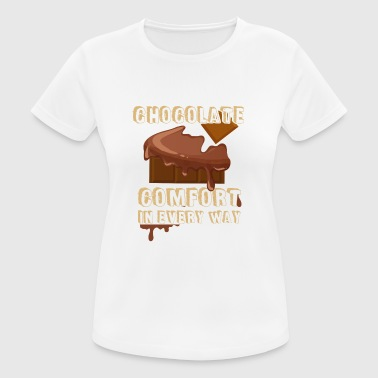 Chocolate Chocolate - consolation - snacking - delicious - chocolate - Women's Breathable T-Shirt