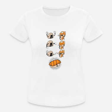 Go Fish Sushi Evolution Funny Fish Rice Association - Maglietta da donna traspirante