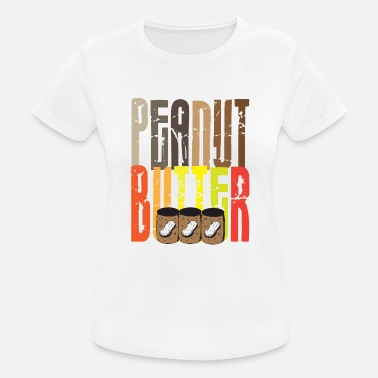 Peanuts Quotes Rainbow Peanut Butter - Women's Breathable T-Shirt