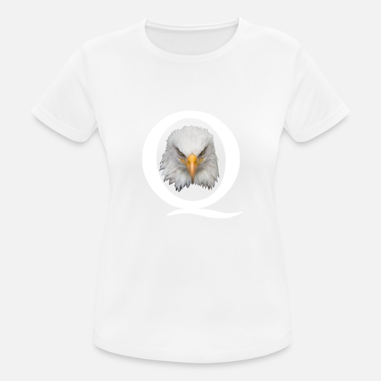 Q T-shirts - QAnon Shirt Q Anon Eagle Grand Réveil USA - T-shirt sport Femme blanc