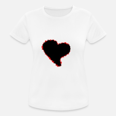 Black Heart Heart / black red heart - Women's Sport T-Shirt