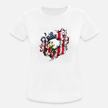 American Eagle American Flag and Eagle USA Patriot Veteran Pride - Women's Sport T-Shirt