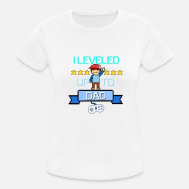 Daddy Level Up Daddy Daddy Rétro Pixel Gamer Gaming Daddy - T-shirt sport Femme