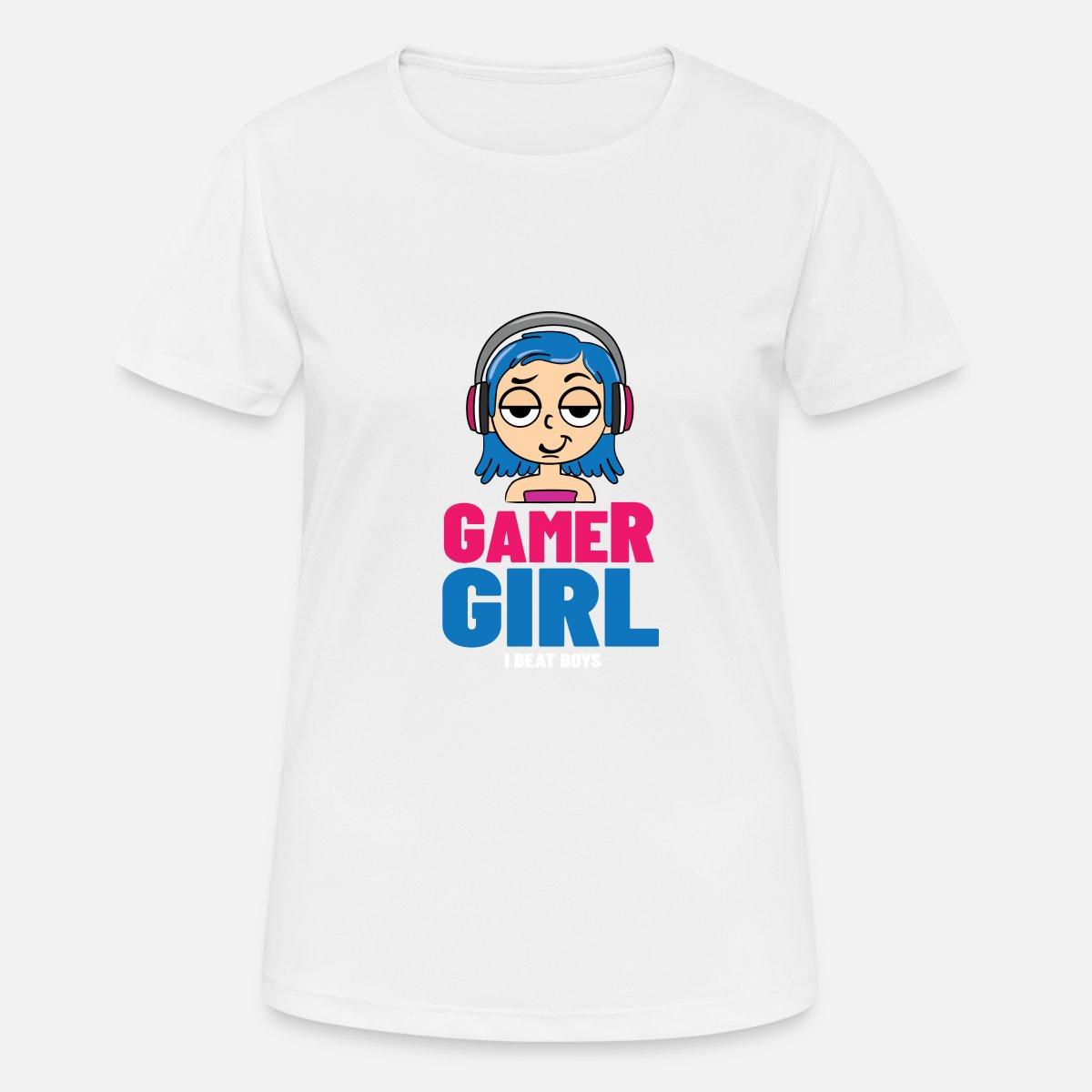 Gamer Girl   Schlägt Die Jungs Logo' Frauen Sport T Shirt ...