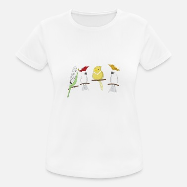 Top Fun Like my Birds and 3 People Gift Design - Vrouwen sport T-shirt