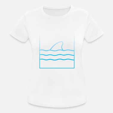 Raining Shark in the ocean fin water - Women's Sport T-Shirt