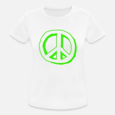 Nuklear peace sign - Sport T-skjorte for kvinner