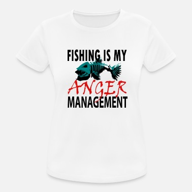 Fiskehoved Min Anger Management - Fiskeri - Sports T-shirt dame