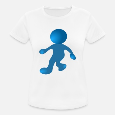Blauer Comic Blau Mann Comic Cartoon - Frauen T-Shirt atmungsaktiv