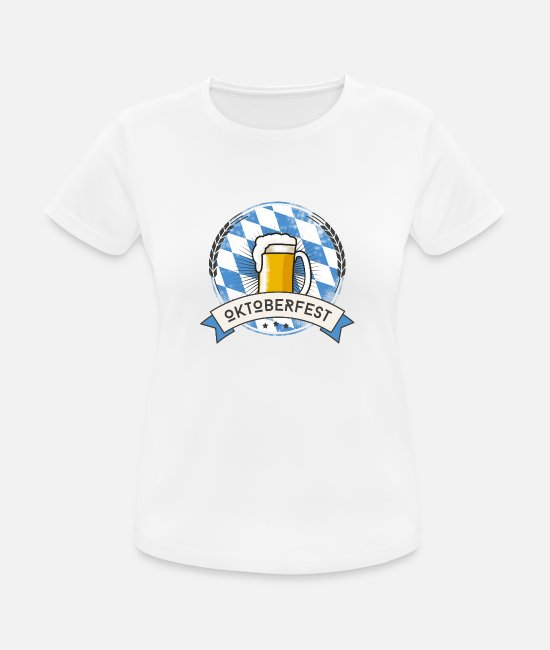 Munich T-Shirts - Oktoberfest Prost beer craft beer garden beer glass - Women's Sport T-Shirt white