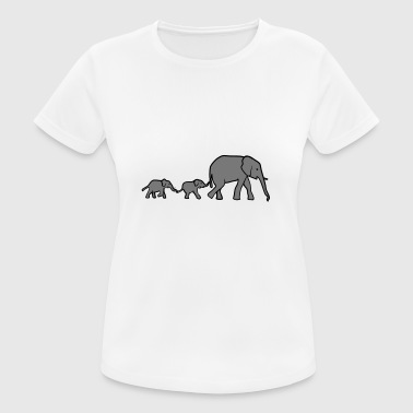 Elephant mother and baby elephants - Women's Breathable T-Shirt
