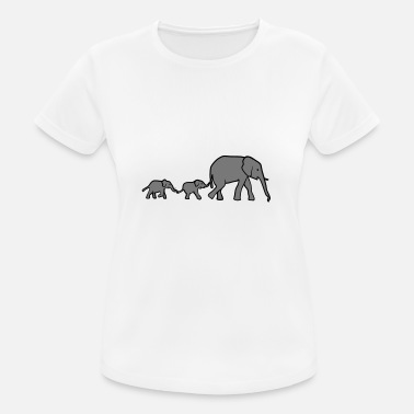 Elephant Mother Elephant mother and baby elephants - Women's Breathable T-Shirt