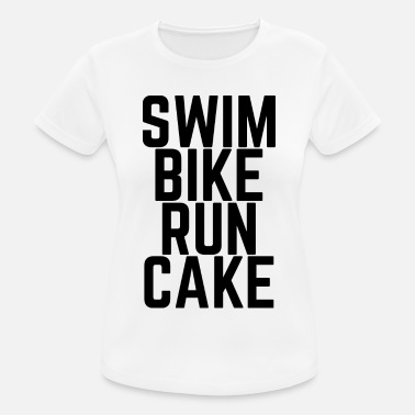 Swim Bike Run Cake Swim Bike Run Cake! - Frauen Sport T-Shirt