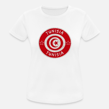 Sousse Tunisia vintage circle with national flag - Women's Sport T-Shirt