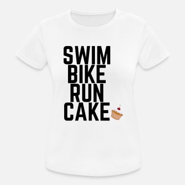 Swim Bike Run Cake Swim Bike Run Cake - Frauen Sport T-Shirt
