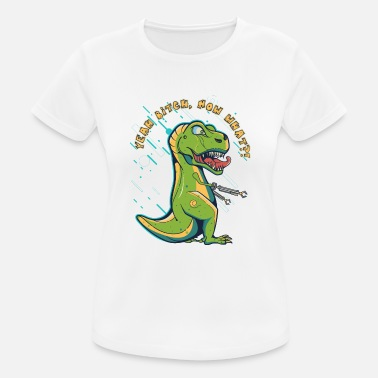 Clap T-Rex 2.0 with futuristic gripping arms - Women's Sport T-Shirt