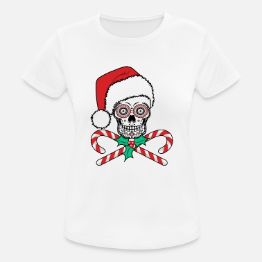 Sugar Skull Santa - Women's Breathable T-Shirt