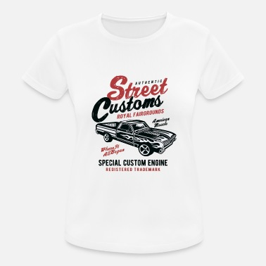 Racing Street Customs - Frauen Sport T-Shirt