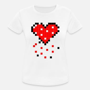 Decay The decaying pixel heart - Women's Breathable T-Shirt