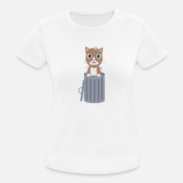 Trash Can Cute cat in the trash can - Women's Sport T-Shirt