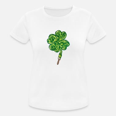 Schlaganfall Clover - I make my own luck - Frauen Sport T-Shirt