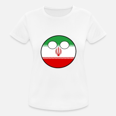 Countryballs Countryball Land Heimat Iran - Frauen Sport T-Shirt