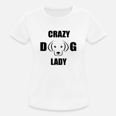 Dobberman Crazy Dog Lady - Sports T-shirt dame