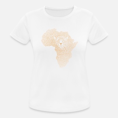 Symbol Africa in the cheetah camouflage - Women's Sport T-Shirt