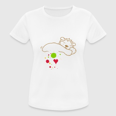Blobs of paint, drop and heart - Women's Breathable T-Shirt