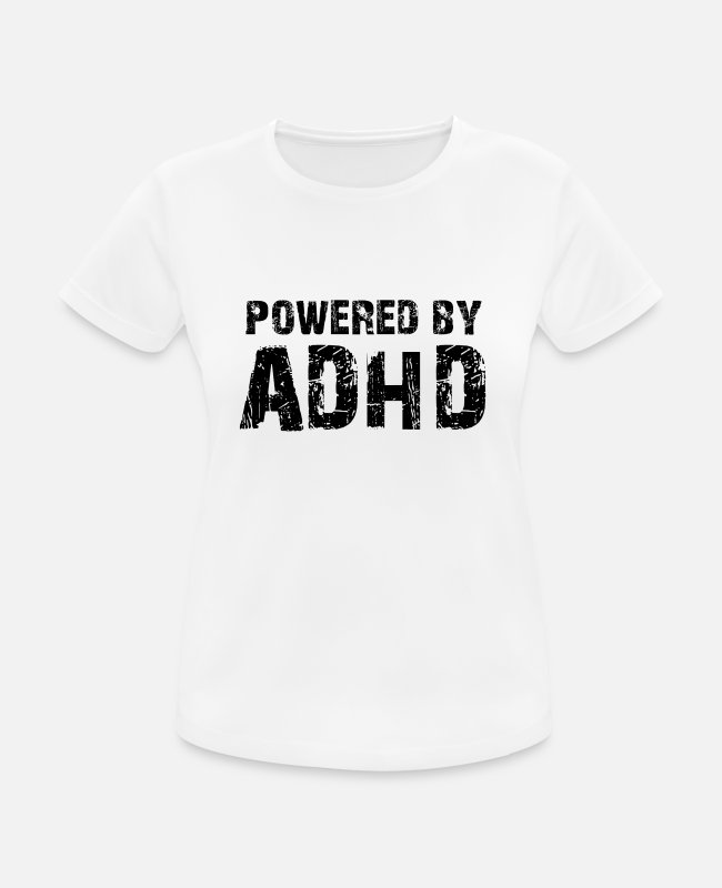 Inlichting Over Autisme T-shirts - ADHD - Vrouwen sport T-shirt wit