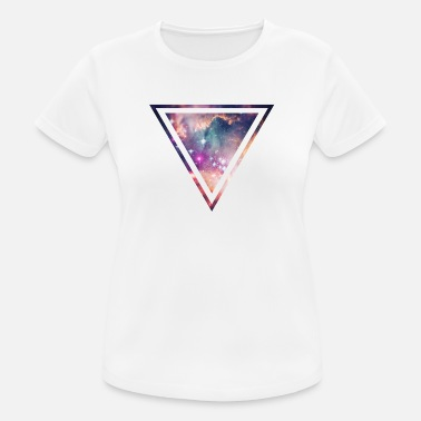 Galaxy Galaxy - Space - Universe / Hipster Triangle - T-shirt respirant Femme