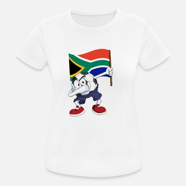 South Africa Fan South Africa Dabbing football - Women's Breathable T-Shirt