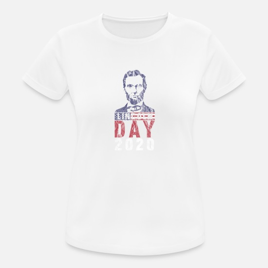 Usa T-shirts - Lincoln Day - Sports T-shirt dame hvid