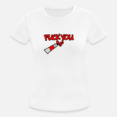 Rouge Fuck You lettrage cadeau de blob de tube de couleur rouge - T-shirt sport Femme