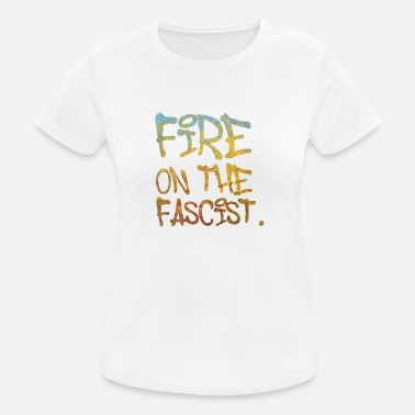 Antifascist Fire on The Fascist - Women's Sport T-Shirt