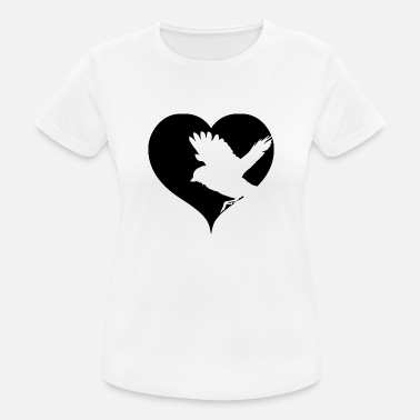 Sperling Herz Vogel Singvogel Spatz Sperling - Frauen T-Shirt atmungsaktiv