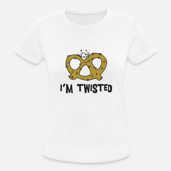 Oktoberfest T-Shirts - Pretzel Pretzels I Am Twisted - Women's Sport T-Shirt white