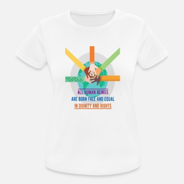 Human Rights All human beings are born free and - Women's Sport T-Shirt