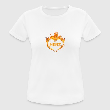 Arena Sport Gift T-Shirt Heart Burns Arena Football - Women's Breathable T-Shirt