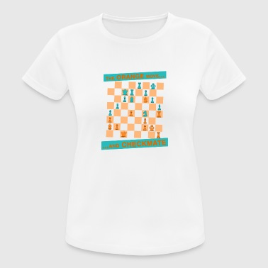Le mouvement ORANGE ... et CHECKMATE - Canton - T-shirt respirant Femme